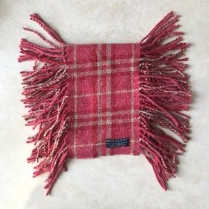 Burberry Pink Happy Double Fringe Scarf